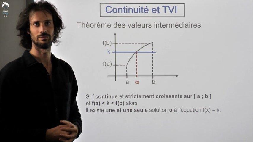 Continuité et théorème des valeurs intermédiaires