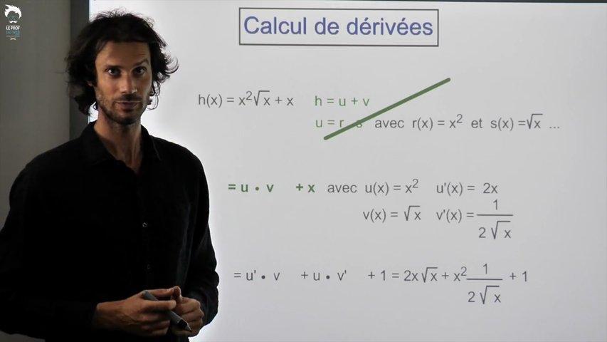 Exemples de calcul de fonctions dérivées