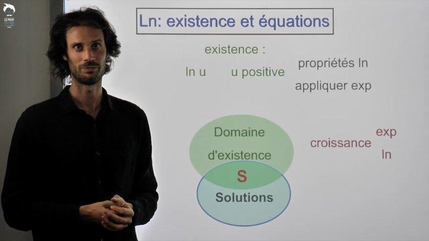 Equations et inéquations contenant des logarithmes népériens - 1/2