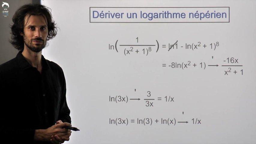Dériver un logarithme népérien