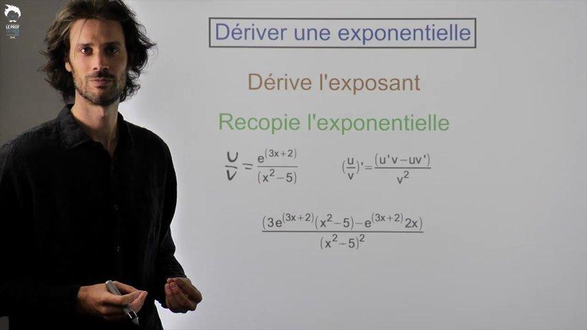 Dériver une fonction contenant une exponentielle