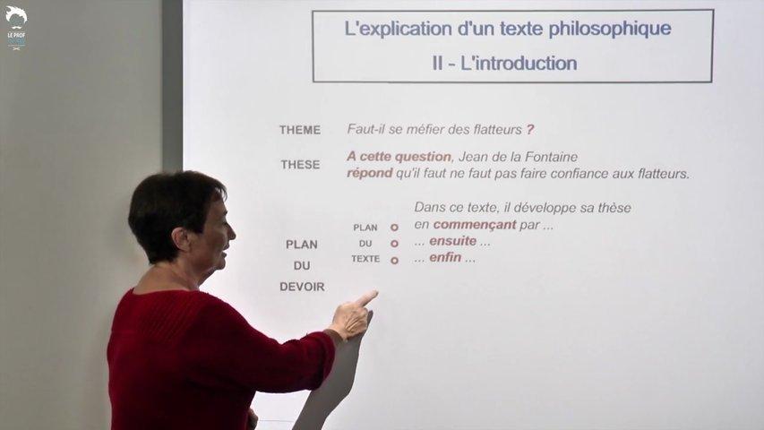 Rédiger l'introduction d'une explication de texte philosophique