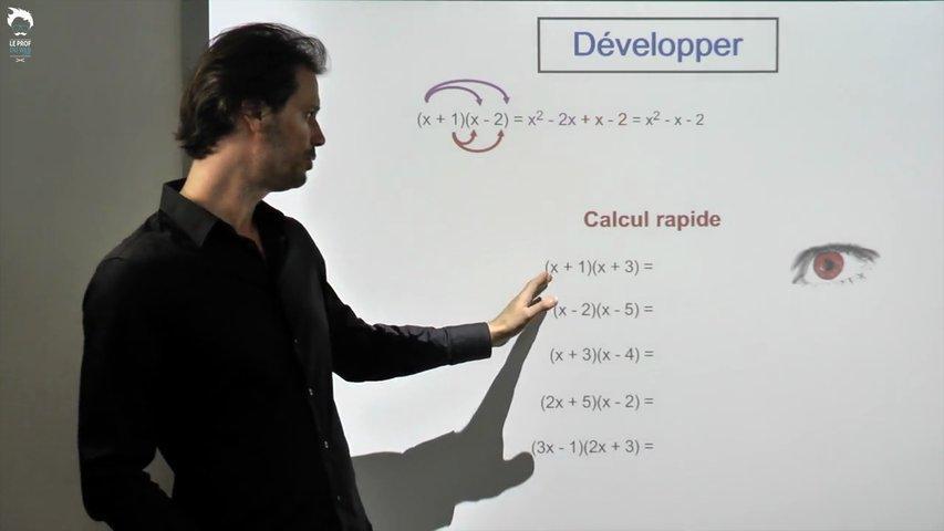 Développer une expression mathématique
