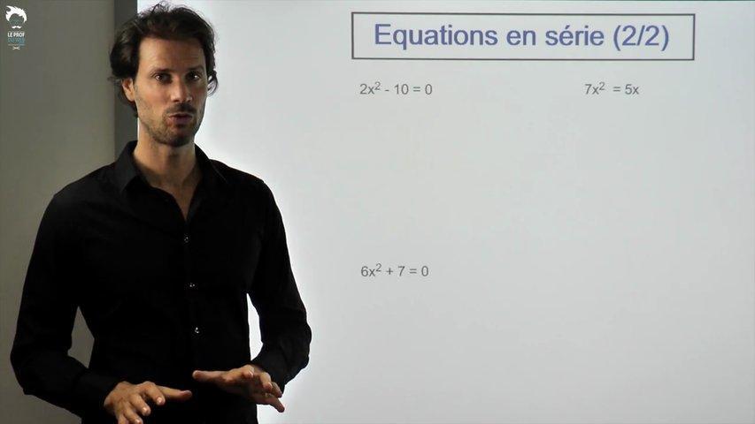 Equations en série - 2/2