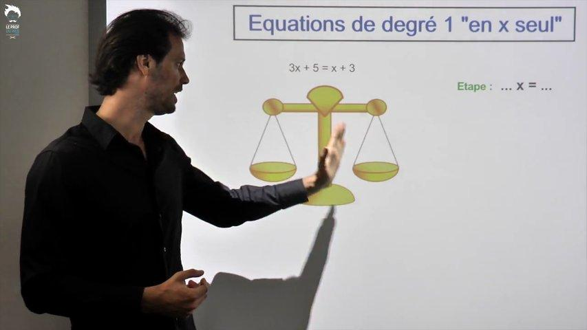 Equations en x seul