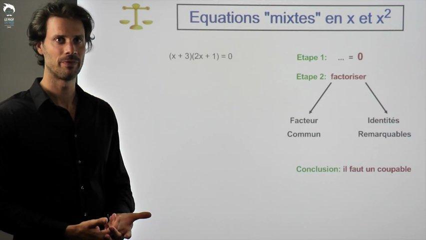 Equations mixte avec des x et x²