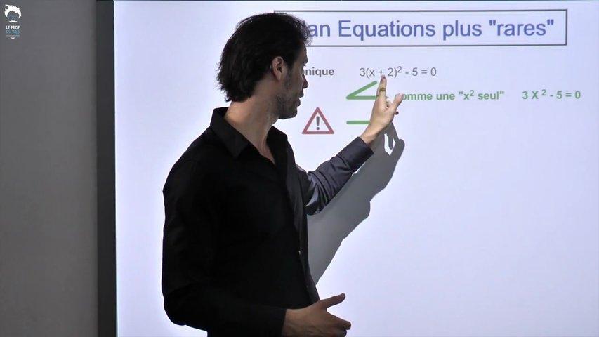 Bilan sur les équations plus rares