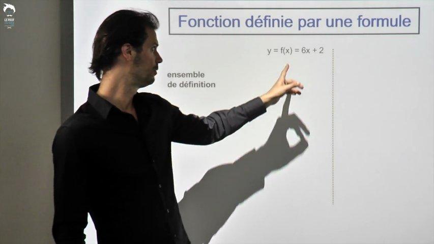 Fonction définie par une formule