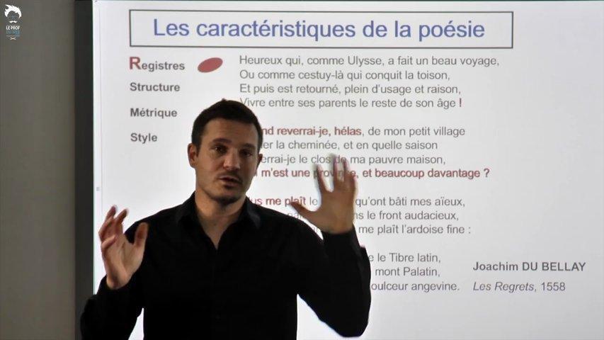 Les registres de la poésie (lyrique, épique, ...)