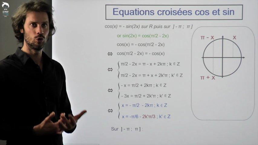 Les équations croisées avec cos(nx) et sin(nx) 2/2