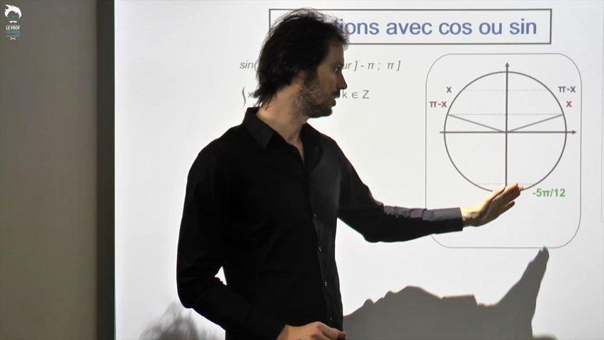 Les équations avec cos(x) ou sin(x) 1/2