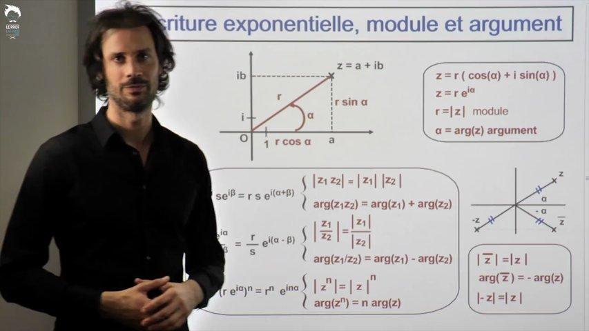 Ecriture exponentielle - Propriétés des modules et arguments