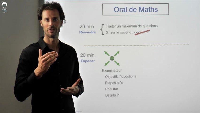 Préparer l'oral de rattrapage en maths