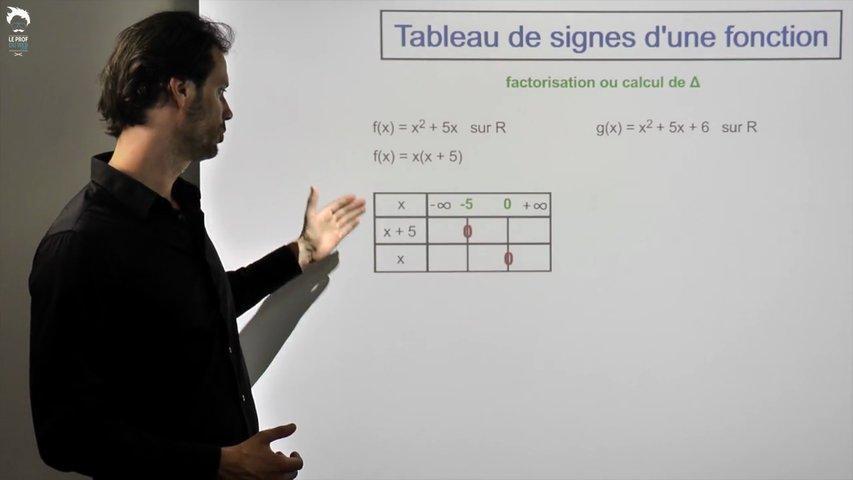 Tableau de signes d'une expression 2/2