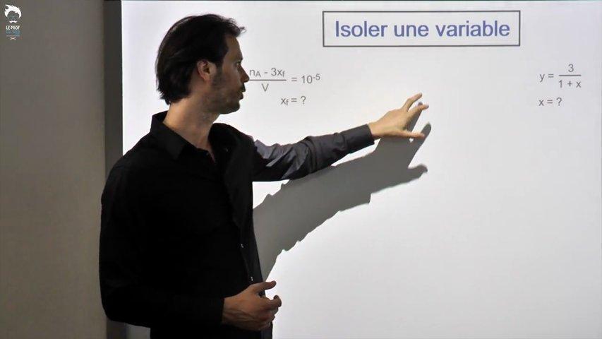 Isoler une variable