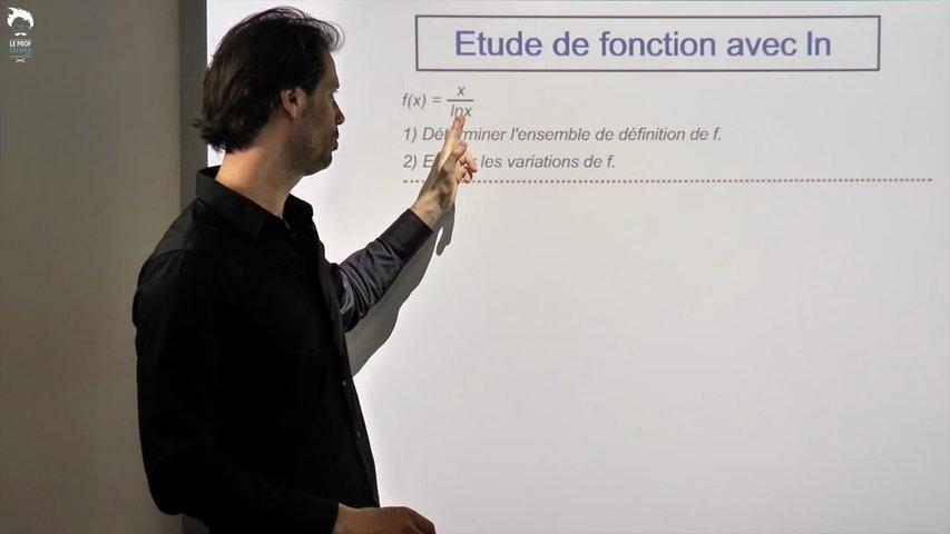Une autre étude de fonction contenant un logarithme népérien