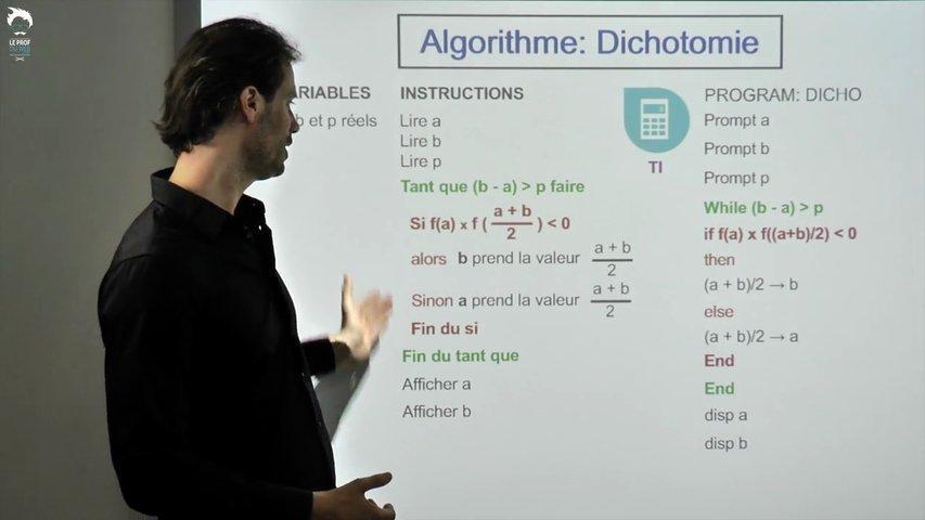 TI - Algorithme de dichotomie