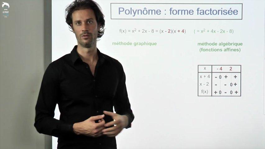 Polynôme : la forme factorisée