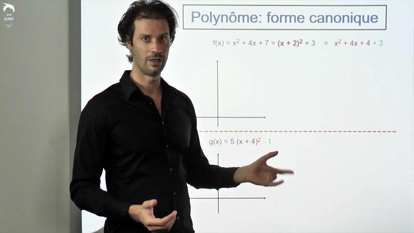 Polynôme : la forme canonique