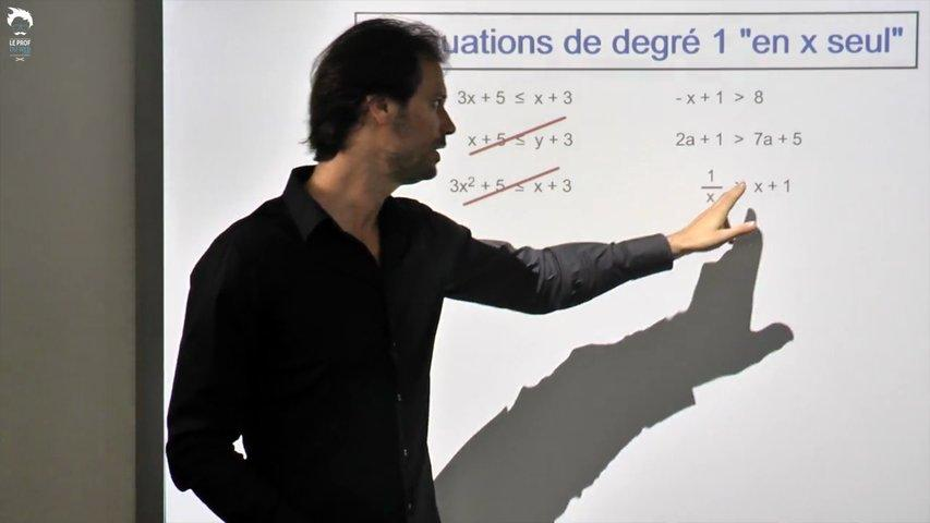 inéquations de degré 1