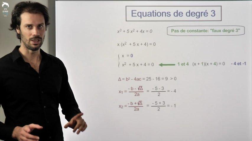 Équations de degré 3
