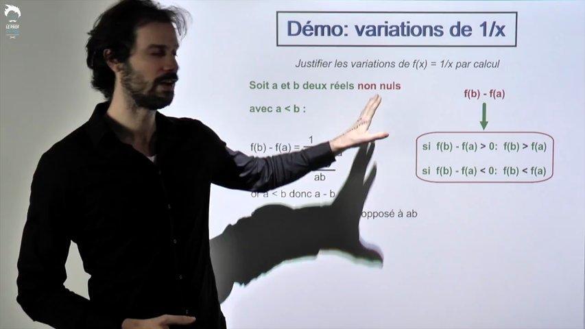 Démo: variations de 1/x