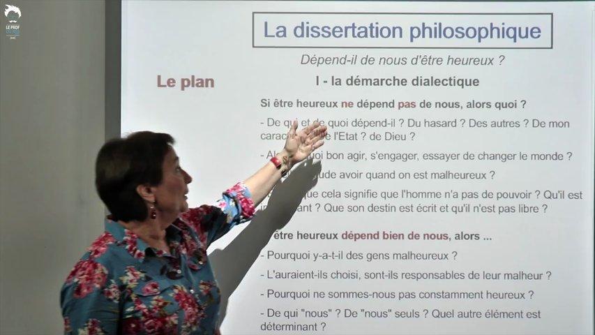 Dissertation : comment construire le plan?