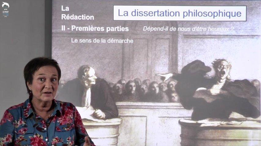 Dissertation : la thèse et l'antithèse