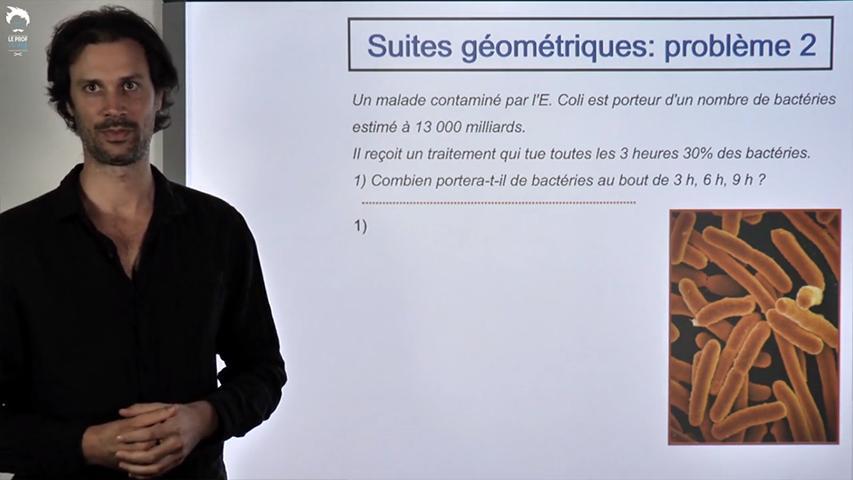 Suites géométrique : Evolution d'une maladie