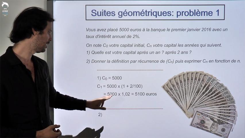 Suites géométrique : placement d'un capital