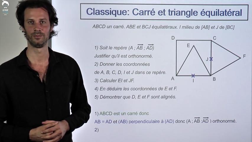 Problème classique : Carré et triangle équilatéral