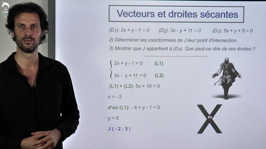 Vecteurs et droites sécantes
