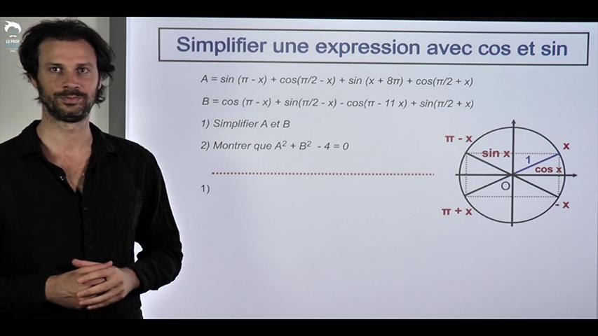 Maitriser les formules de trigonométrie
