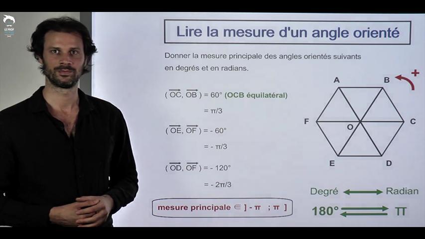 Lire la mesure d'un angle orienté sur une figure