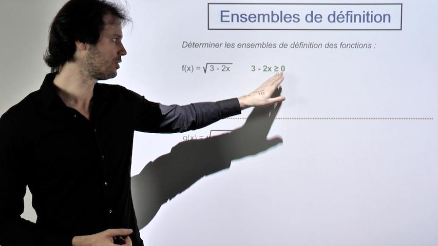 Ensembles de définition de fonctions racines et quotients
