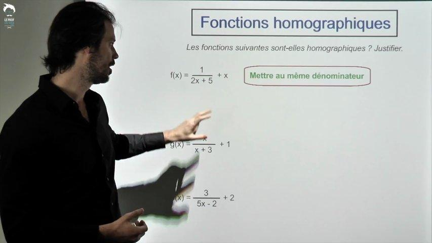 Fonctions homographiques