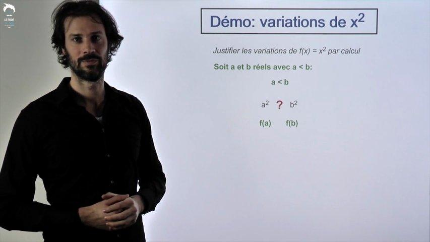 Démo: variations de x²