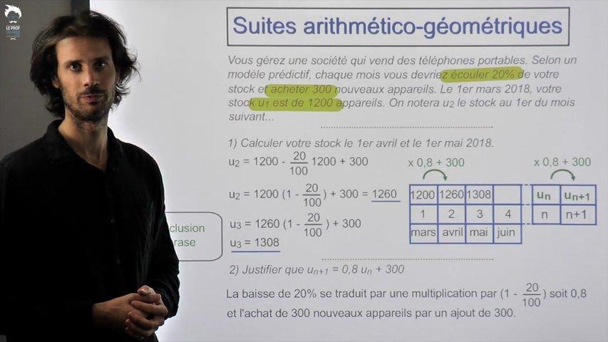 Problème classique utilisant une suite auxiliaire géométrique