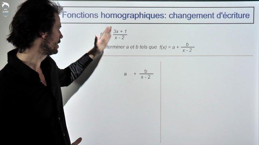 Fonctions homographiques: changement d'écriture