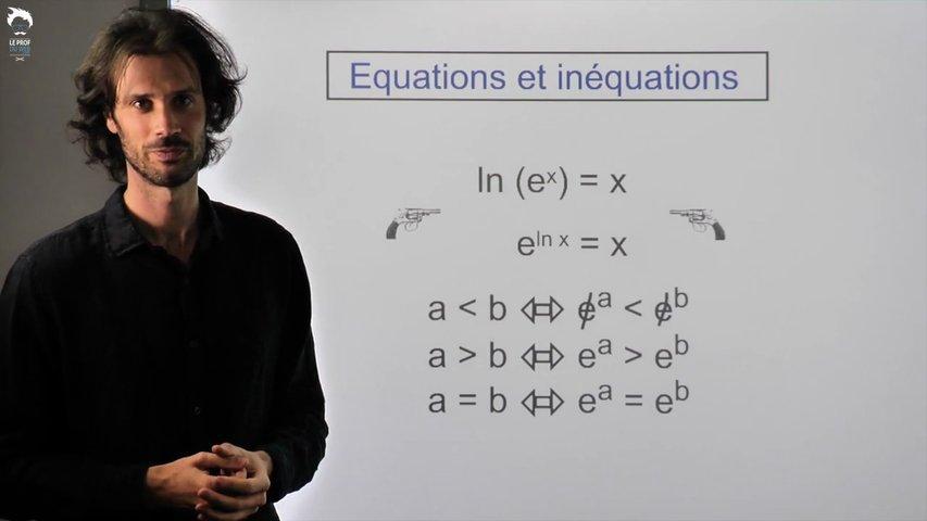 Equations et inéquations avec des exponentielles 2