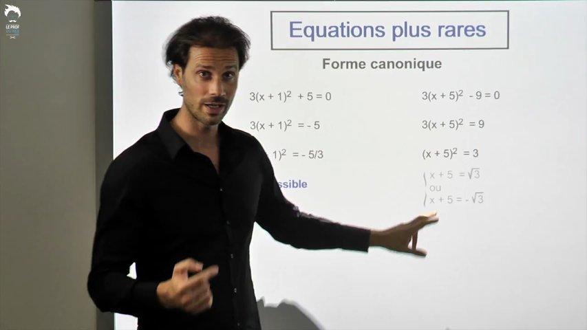 Equations plus rares 1/2