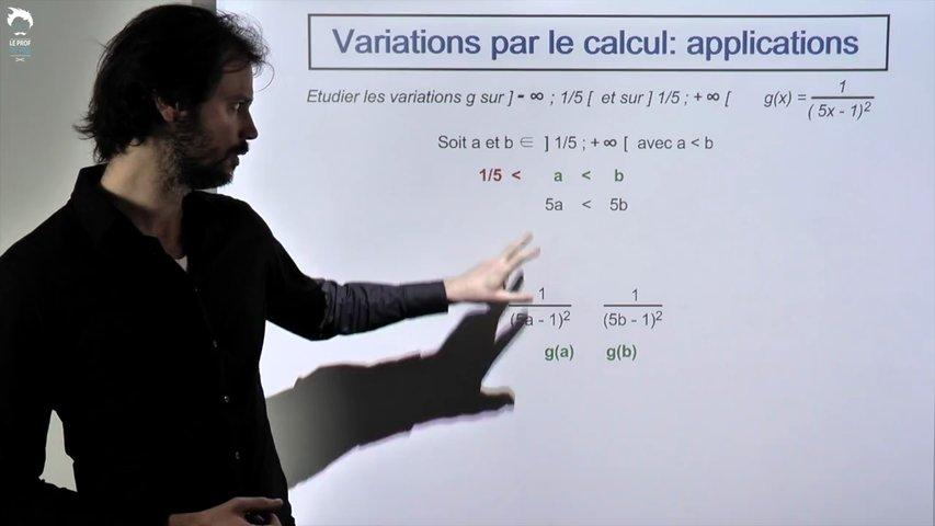 Variations par le calcul : applications