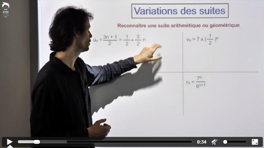 Variations des suites 1/2