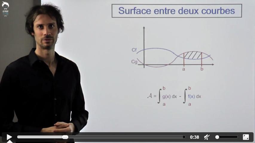 Calcul d'une surface entre 2 courbes