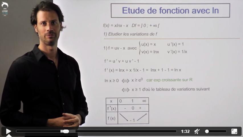 Etude d'une fonction contenant un logarithme népérien