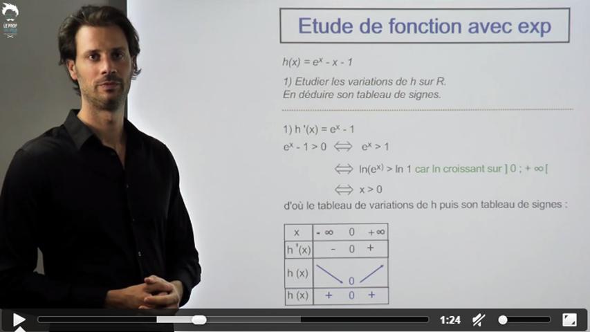Une autre étude de fonction avec exponentielle