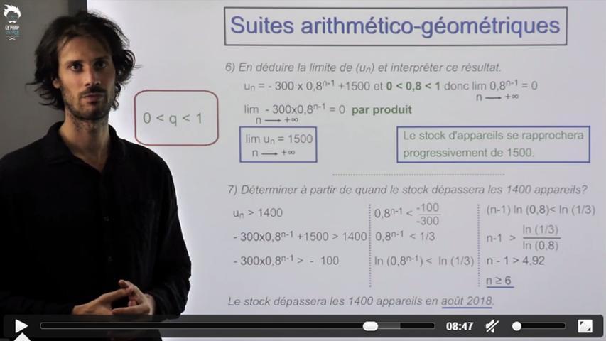 Problème : étude d'une suite arithmético-géométrique