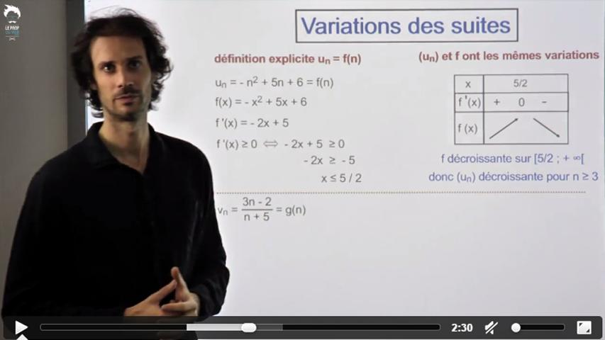 Variations des suites