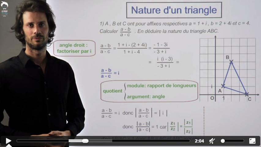 La nature d'un triangle