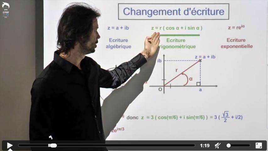 Changement d'écriture : algébrique à exponentielle